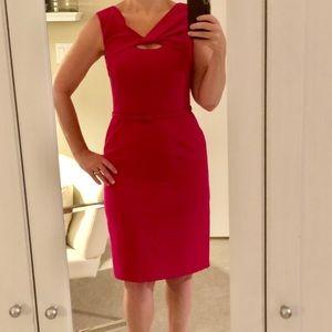Vibrant Pink Jones Nee York Pencil Dress